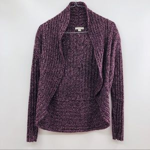NEW YORK & COMPANY Purple Street Wear Cardigan